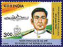 A commemorative stamp of M.N. Mulla