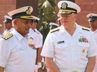 Naval Chief Admiral Nirmal Verma interacting with Admiral Gary Roughead